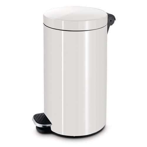 Kovový odpadkový koš Basic, objem 30 l, bílý