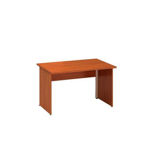 Kancelářský stůl Alfa 100, 120 x 80 x 73,5 cm, rovné provedení, dezén třešeň