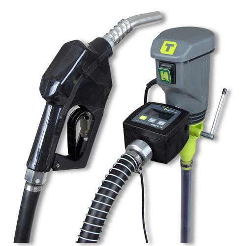 Elektrické sudové čerpadlo s automatickou výdejní pistolí a průtokoměrem pro výdej nafty