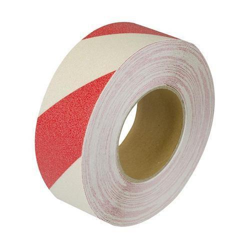 Protiskluzová podlahová páska, 18 m, bílá/červená
