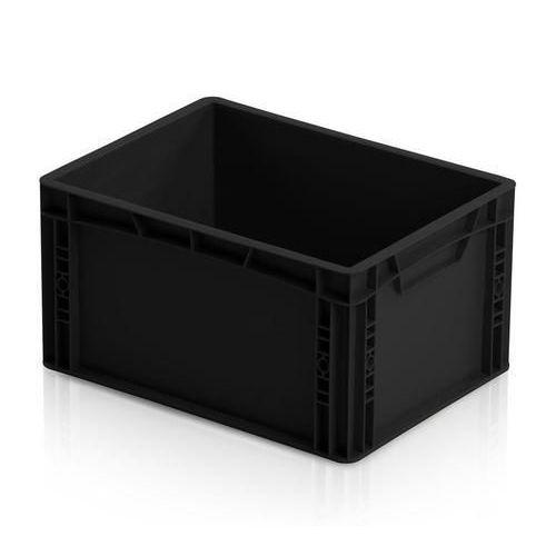 Antistatická přepravka ESD, černá, 22x40x30 cm