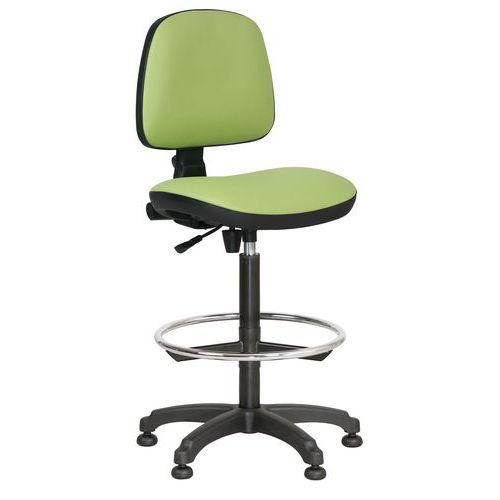 Zvýšená pracovní židle Monako plus s kluzáky, zelená