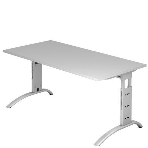 Výškově nastavitelný kancelářský stůl Baron Mittis, 160 x 80 x 65 - 85 cm, rovné provedení - Prodloužená záruka na 10 let
