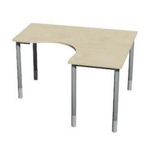 Roh kancelářský stůl Gemi line, 160/80 x 140/65 x 70-90 cm, pravé provedení, javor jersey