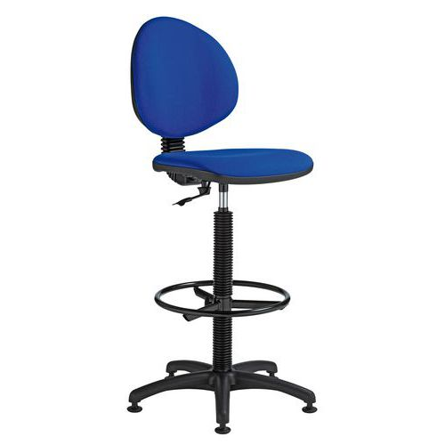 Zvýšená pracovní židle Stella s kluzáky, modrá - Prodloužená záruka na 10 let