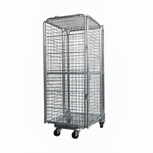 Stohovatelný pojízdný kontejner s mřížovými stěnami, do 400 kg