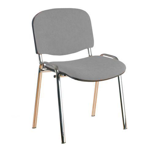 Konferenční židle ISO Velours Chrom, šedá