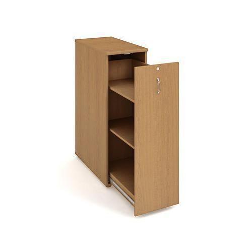 Přístavbová střední skříň, 117,7 x 40 x 80 cm, výsuvná se dvěma policemi - pravé provedení, dezén buk - Prodloužená záruka na 10 let