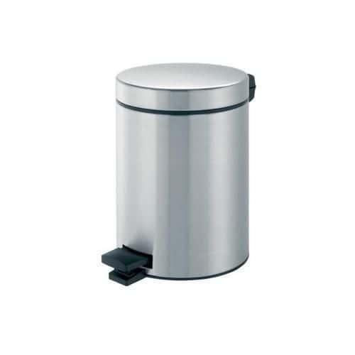 Kovový odpadkový koš Merida Clean, objem 5 l, matný nerez