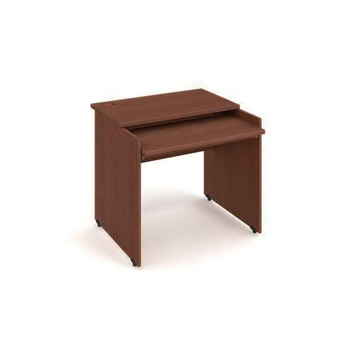 Kancelářský stůl pro PC, Gate, 85 x 80 x 75,5 cm, rovné provedení, dezén ořech - Prodloužená záruka na 10 let