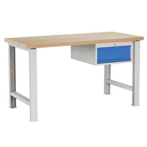 Dílenský stůl Weld se zásuvkou, 84 x 150 x 68,5 cm, šedý - Prodloužená záruka na 10 let