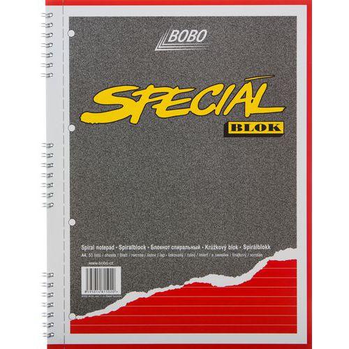 Blok A4 special s kovovou boční spirálou, linkovaný, 5 ks