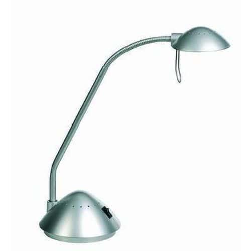 Halogenová kancelářská stolní lampa Dalco 953, 20 W, stříbrná