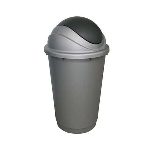 Plastový odpadkový koš Pivot, objem 60 l