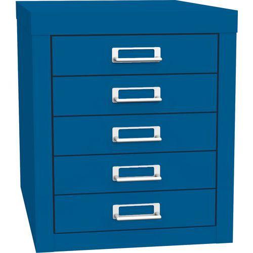 Jednořadá kovová kartotéka A4 Esk, 5 zásuvek, modrá - Prodloužená záruka na 10 let