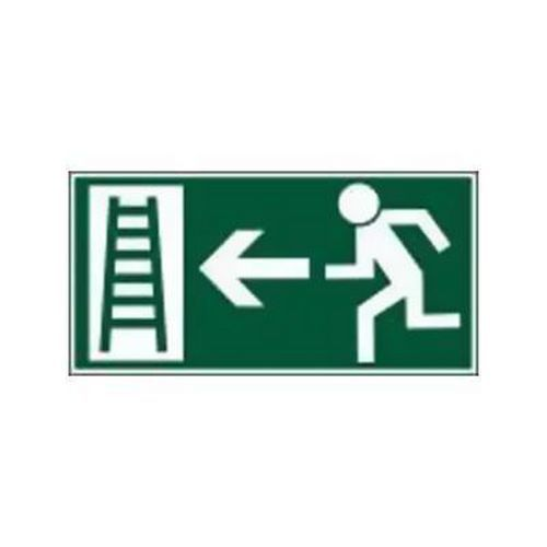 Úniková fotoluminiscenční bezpečnostní tabulka - Únikový žebřík