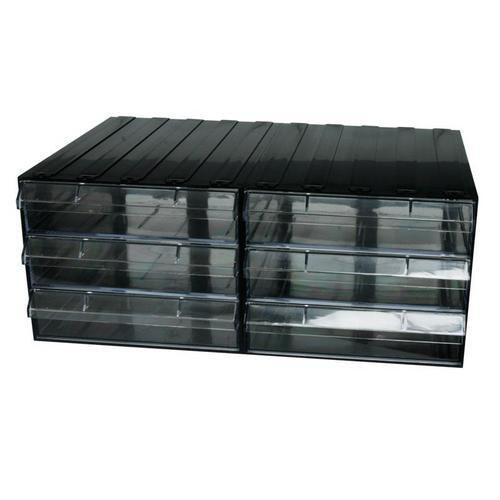 Modulový organizér PS, 6 zásuvek, černý/transparentní - Prodloužená záruka na 10 let
