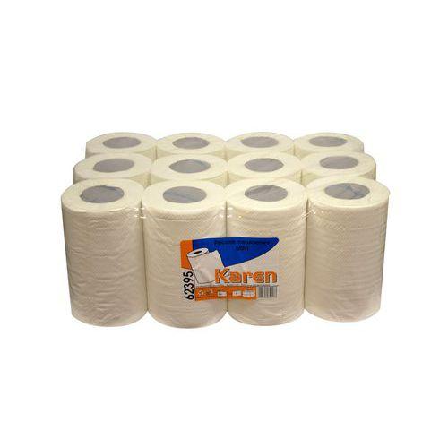 Papírové ručníky Karen Midi 2vrstvé, 50 m, 100% bílé, 12 ks