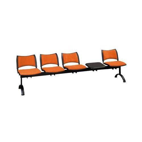 Lavice Smart, čtyřmístná se stolkem, oranžová