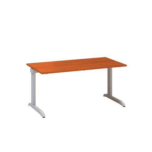 Kancelářský stůl Alfa 300, 160 x 80 x 74,2 cm, rovné provedení, dezén třešeň