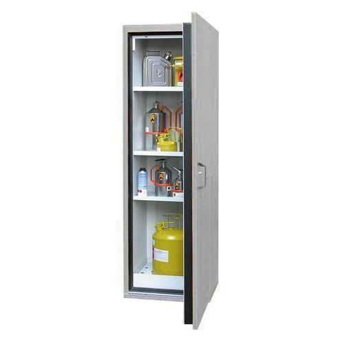 Žáruvzdorná skříň na nebezpečné látky, 595 x 598 x 1 935 mm, šed