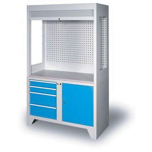 Kontrolní pracoviště, 203 x 120 x 60 cm, modré
