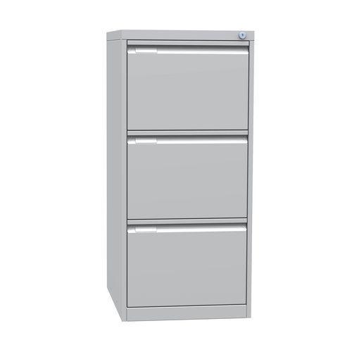 Jednořadá kovová kartotéka A4 Tyne, 3 zásuvky, modrá/šedá