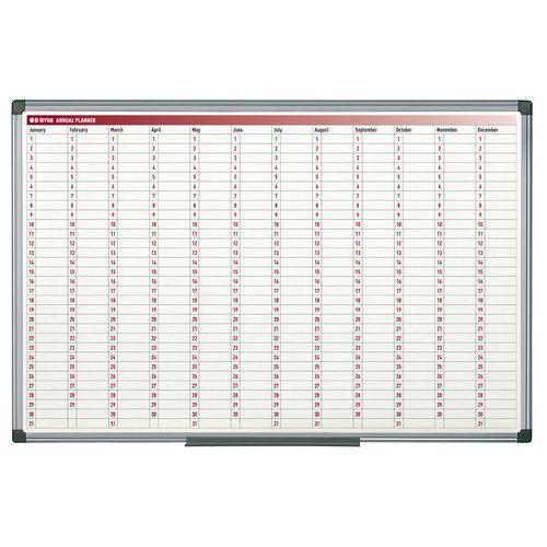 Magnetická roční plánovací tabule Ginger