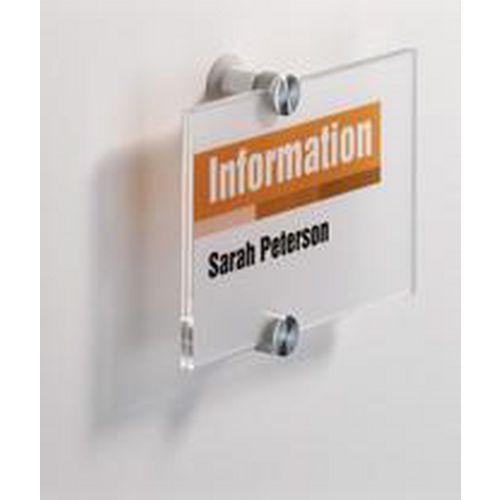Informační dveřní tabulka Crystal Sign, 105 x 148 mm