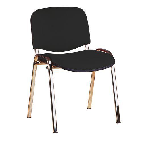 Konferenční židle ISO Chrom, černá