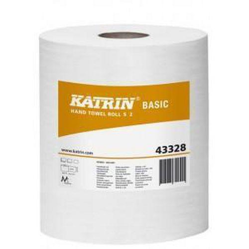 Papírové ručníky Katrin Basics S2 2vrstvé, 70 m, šedá, 12 ks