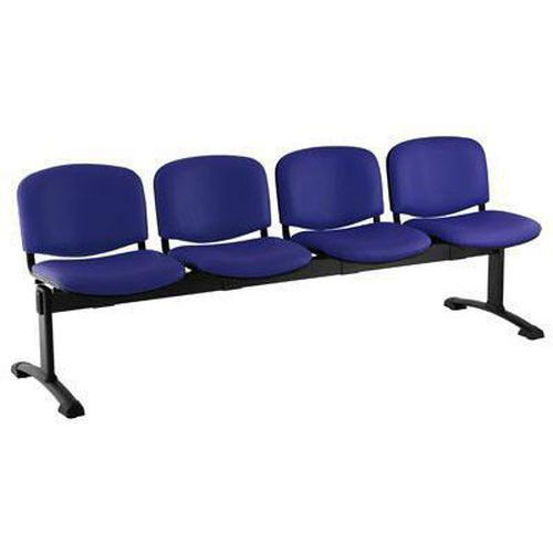 Koženková lavice Ida, čtyřmístná, modrá