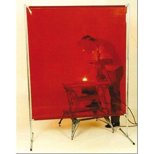 Svařovací zástěna, červená