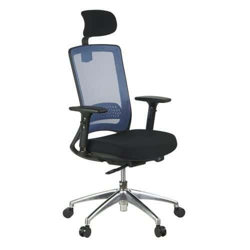 Kancelářská židle Julia, modrá/černá