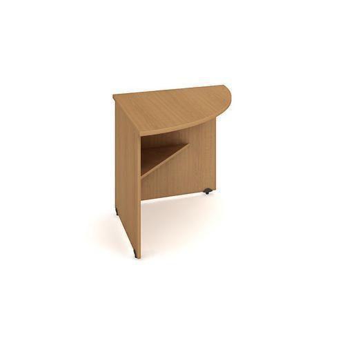 Rohový kancelářský stůl Gate, 80 x 80 x 75,5 cm, pravé provedení, dezén buk