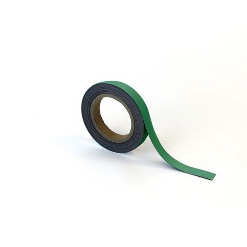 Magnetická páska na regály Manutan, 10 m, zelená, šířka 20 mm