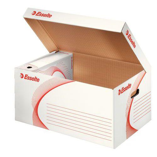 Esselte archivační krabice A4 80 mm s víkem bílá
