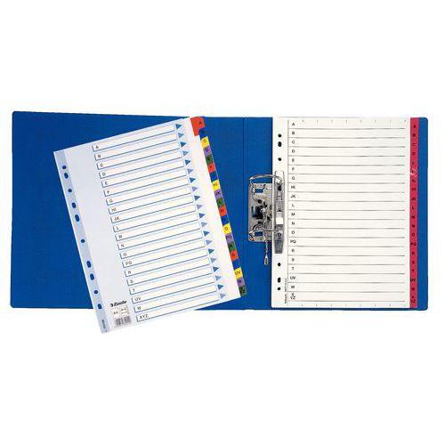 Písmenný rozdružovač, 5 ks, 20 oddílů