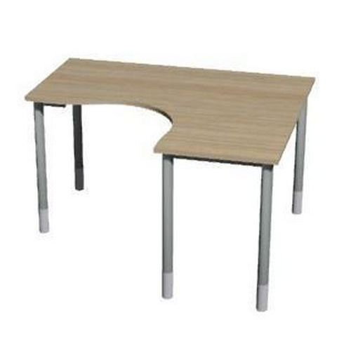 Roh kancelářský stůl Gemi line, 160/80 x 140/65 x 70-90 cm, pravé provedení, světlé dřevo