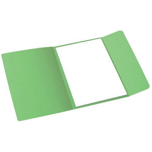 Papírové spisové desky Cloud, 100 ks, zelené