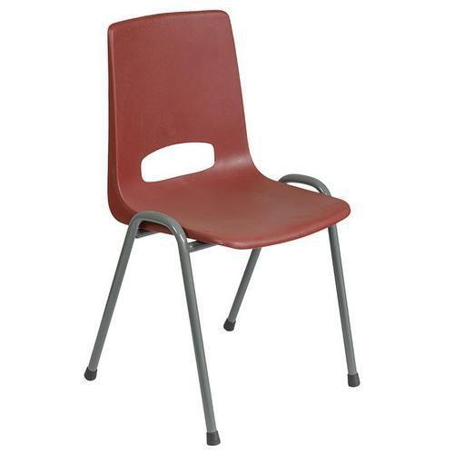 Plastová jídelní židle Pavlina Grey, bordó