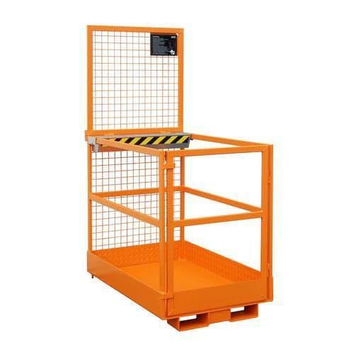 Pracovní klec pro vysokozdvižný vozík, rozměry 120 x 80 cm, stacionární