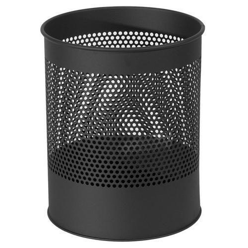 Kovový odpadkový koš Gap, objem 15 l, černý