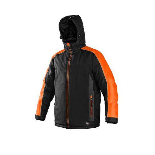 Pánská zimní bunda CXS s reflexními prvky, černá/oranžová