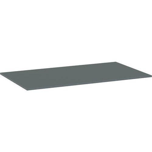 Deska jídelního stolu Versys, 1400x800x18 mm, ABS 2 mm, tmavě še