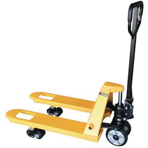 Paletový vozík s krátkými vidlicemi, do 2 000 kg, gumová řídicí kola - Prodloužená záruka na 10 let