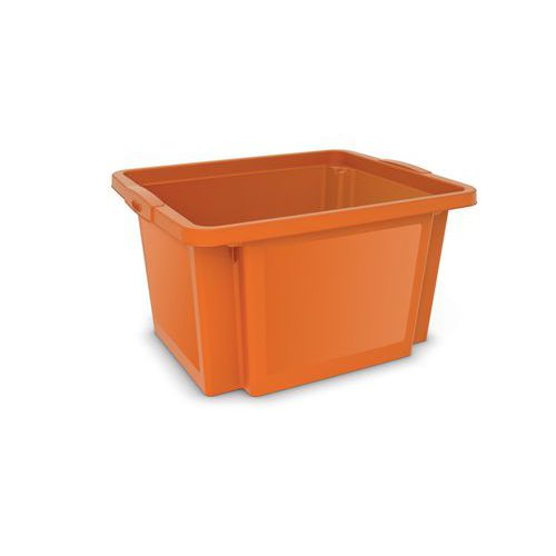 Plastová přepravka, oranžová