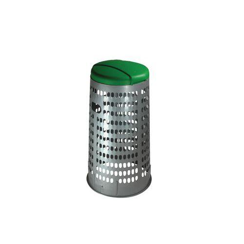 Stojan ECO na odpadkové pytle s víkem, zelený