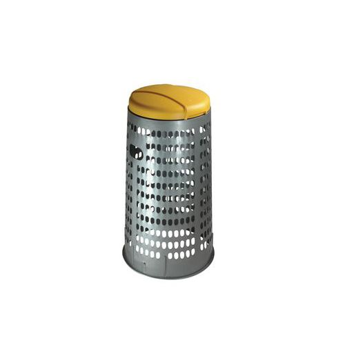 Stojan ECO na odpadkové pytle s víkem, žlutý