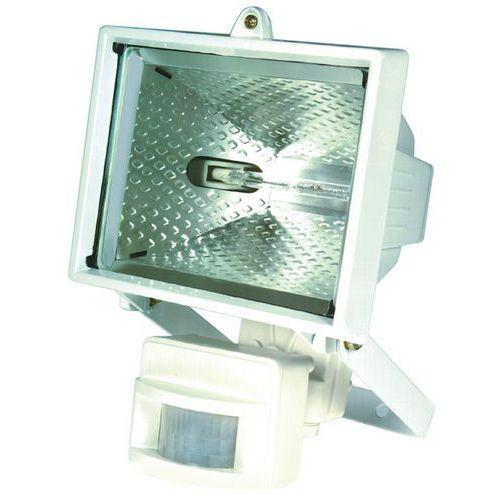 Halogenový reflektor s pohybovým čidlem, 500 W, bílý